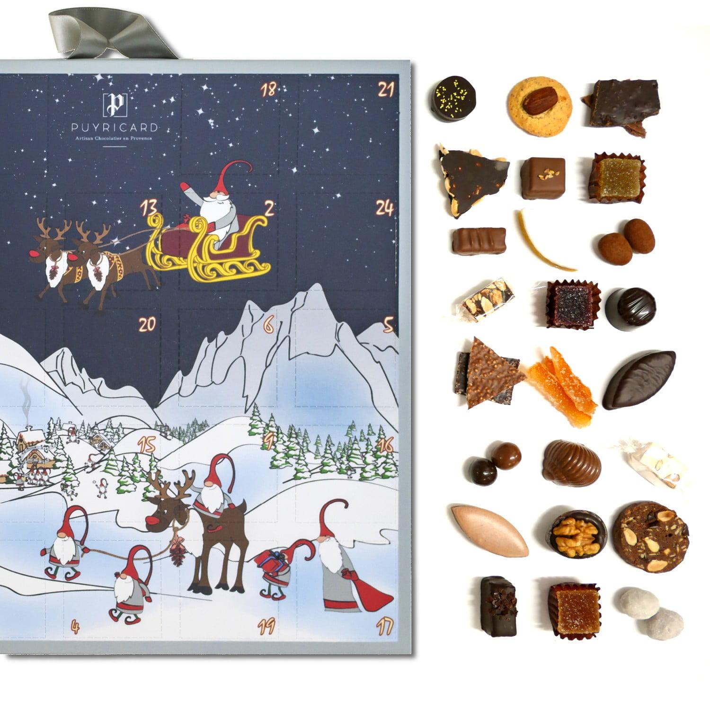 LES COMMERCES DE LA BASTIDE-Chocolaterie de Puyricard-Noel-1B-calendrier-avent